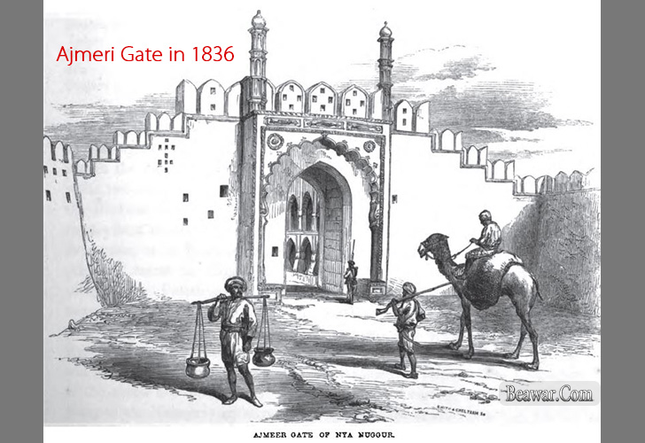 Ajmeri Gate Beawar in 1836